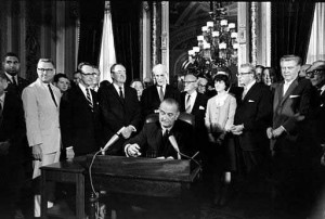 voterRightsAct1965signing